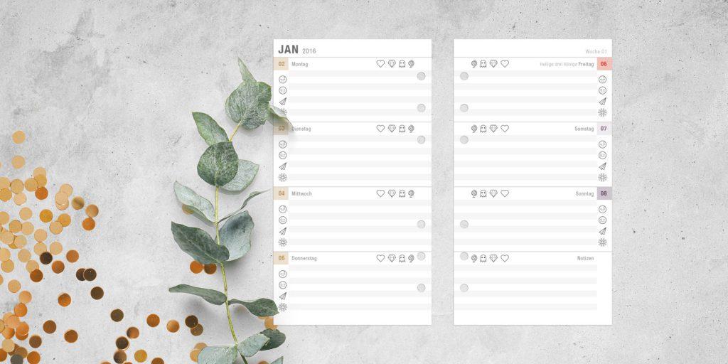 Kalendereinlagen 2016 Personal