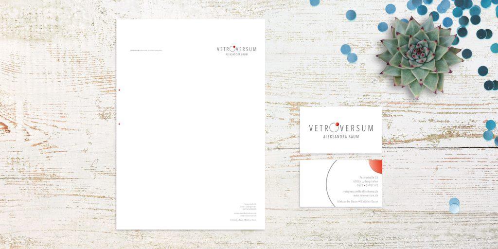 Vetroversum Briefbogen & Visitenkarte