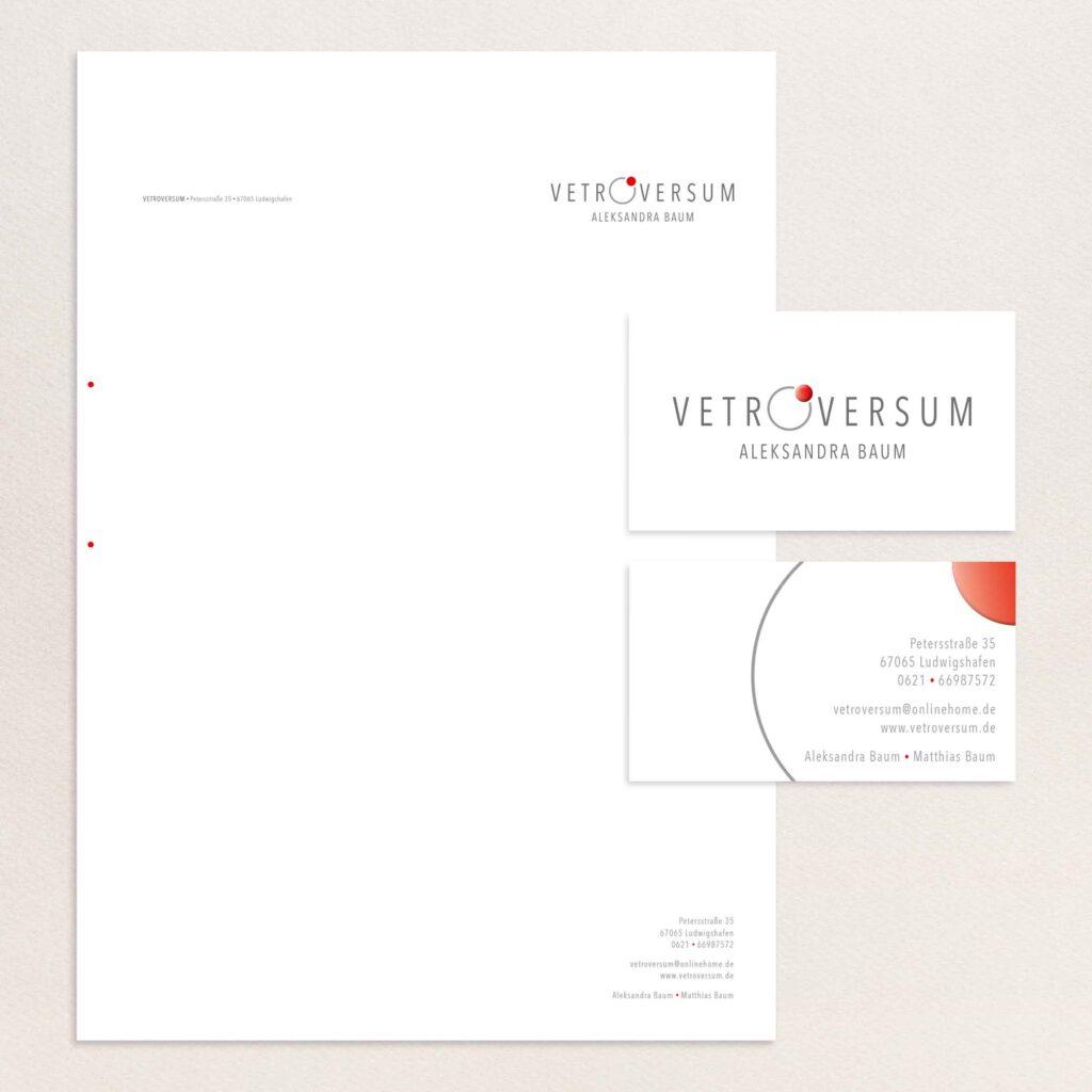 vetroversum visitenkarten und briefbogen