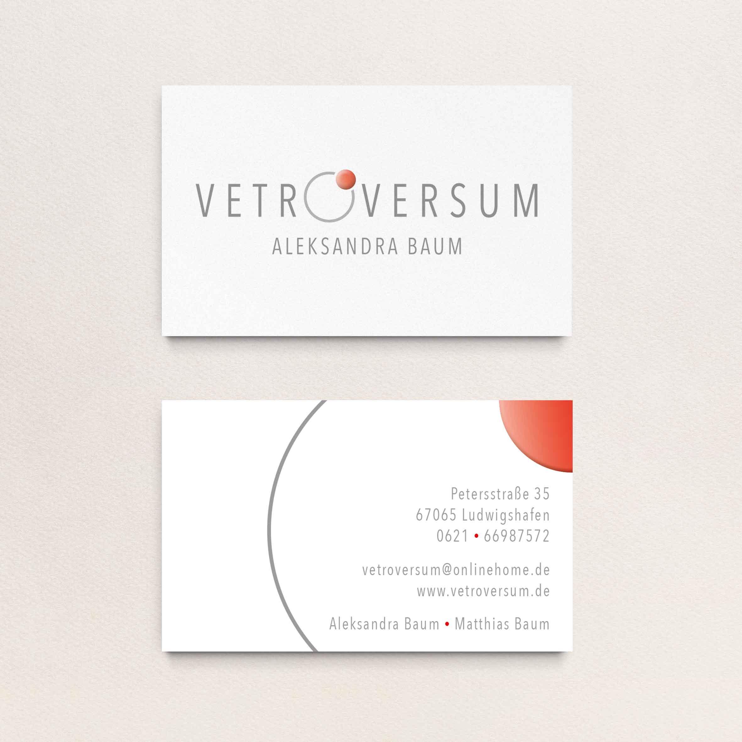 vetroversum visitenkarten