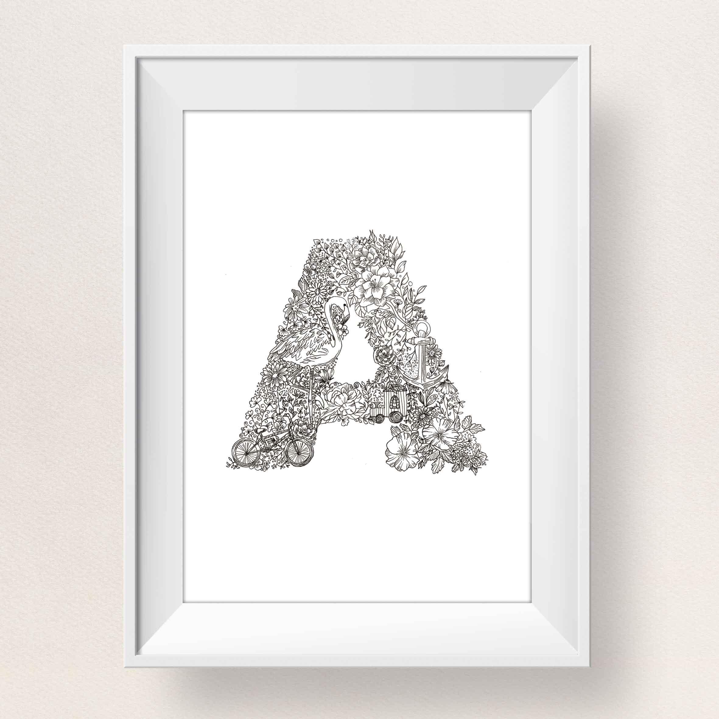 Illustration des Buchstaben A