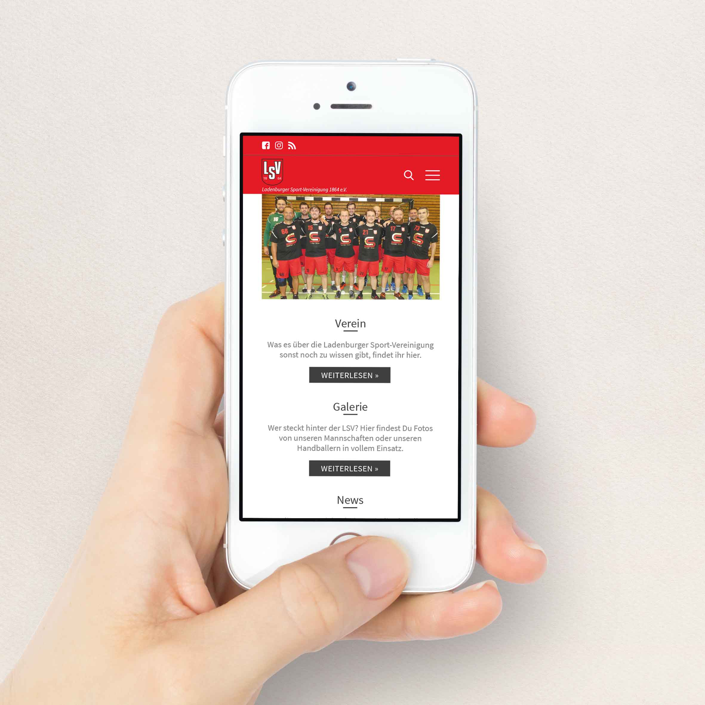 Handball Ladenburg Website Responsiv